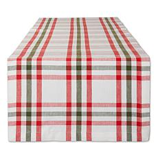 Design Imports Nutcracker Plaid Table Runner - 14 x 108""
