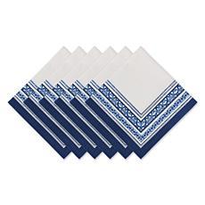 Design Imports Porto Stripe Print Napkin 6-pack