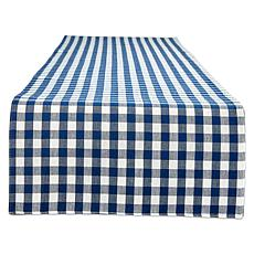 "Design Imports Reversible Gingham Buffalo Check 14""x 108"" Table Runner"