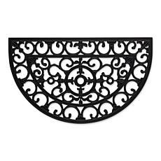 Design Imports Scroll Half Moon Rubber Doormat