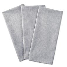 Design Imports Set of 3 Solid Chambray Kitchen Towels