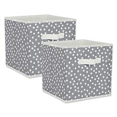 """Design Imports Small Dots 11"""" Storage Cube 2-pack"""