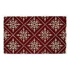 Design Imports Snowflake Lattice Doormat