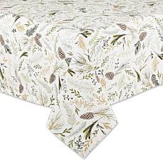 "Design Imports Sparkle Sprigs Tablecloth - 52"" x 52"""