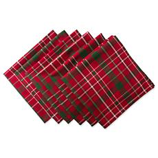Design Imports Tartan Holiday Plaid Napkin Set of 6