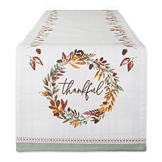 """Design Imports Thankful Autumn Wreath 14"""" x 72"""" Table Runner"""