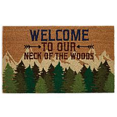 "Design Imports ""Welcome To Our Neck Of The Woods"" Doormat"
