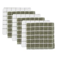 Design Imports Windowpane Dishcloth 6-Pack