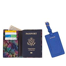 Destinations Luggage Tag and RFID Passport Cover Set