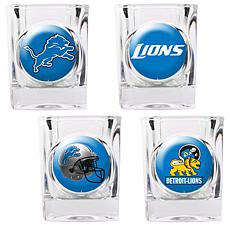 Detroit Lions 4pc Collector's Shot Glass Set