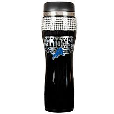 Detroit Lions Black Stainless Steel Bling Travel Tumble