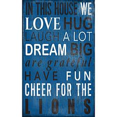 Detroit Lions In This House Sign