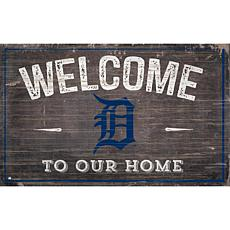 Detroit Tigers 11x19 Welcome to our Home Sign
