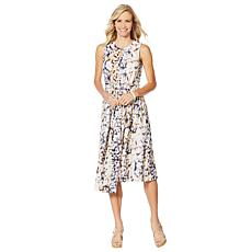DG2 by Diane Faux Wrap Dress with Tie