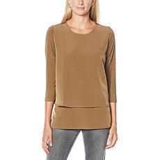 DG2 by Diane Gilman 3/4-Sleeve Easy Top