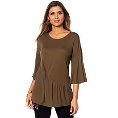 DG2 by Diane Gilman Asymmetric Peplum Top