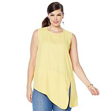 DG2 by Diane Gilman Asymmetric Sleeveless Top