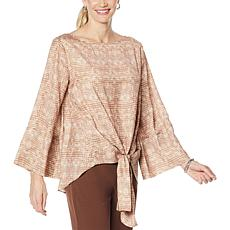 DG2 by Diane Gilman Charmeuse Tie-Front Blouse