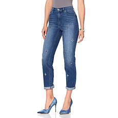 DG2 by Diane Gilman Classic Jeweled Girlfriend Jean