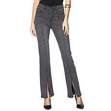 DG2 by Diane Gilman Classic Stretch Boot-Cut Jean with Slit - Fashion