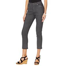 DG2 by Diane Gilman Classic Stretch Pinstripe Crop Jean - Basic