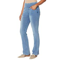 "DG2 by Diane Gilman ""DG Downtime"" Knit Flex Boot-Cut Jegging"
