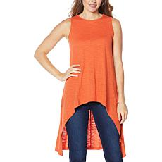 DG2 by Diane Gilman Dramatic Hi-Low Sleeveless Top