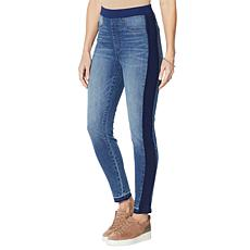 DG2 by Diane Gilman French Terry Side Seam Denim Jegging