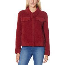 DG2 by Diane Gilman Fuzzy Knit Sweater Jacket