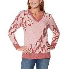 DG2 by Diane Gilman Fuzzy Novelty Sweater