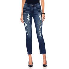 DG2 by Diane Gilman Jeweled Distressed Skinny Jean