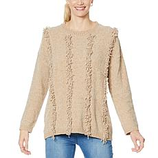 DG2 by Diane Gilman Looped Chenille Fringed Pullover