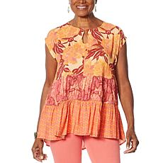 DG2 by Diane Gilman Multi Print Tiered Tunic