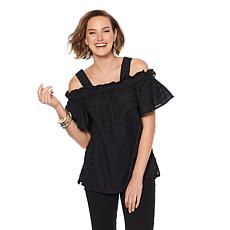 DG2 by Diane Gilman Off-the-Shoulder Blouse with Removable Straps