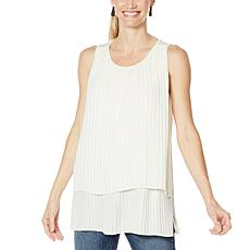 DG2 by Diane Gilman Pleated Easy Tank