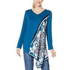DG2 by Diane Gilman Printed Scarf Top