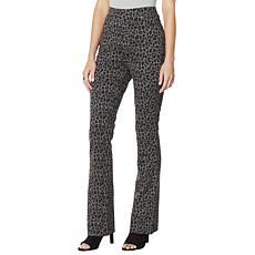 DG2 by Diane Gilman Pull-On Stretch Ponte Boot-Cut Pant - Print