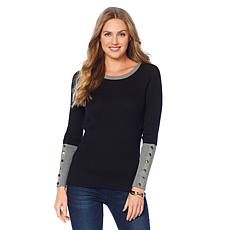 DG2 by Diane Gilman Quad Blend Colorblock Sweater