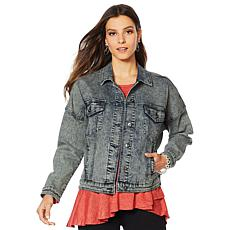 DG2 by Diane Gilman Snow Wash Boxy Jean Jacket