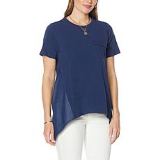 DG2 by Diane Gilman SoftCell Combo Tee with Pocket