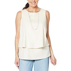 DG2 by Diane Gilman SoftCell Denim Easy Tank