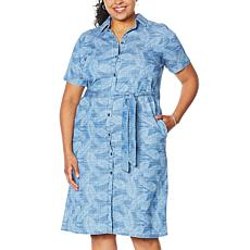 DG2 by Diane Gilman SoftCell Printed Dress/Duster