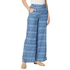 DG2 by Diane Gilman SoftCell Side Slit Pull-On Pant - Fashion