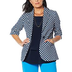 DG2 by Diane Gilman Stretch Crepe Blazer - Printed