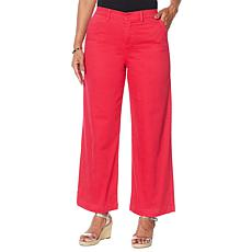 DG2 by Diane Gilman Stretch Twill Wide-Leg Chino Pant