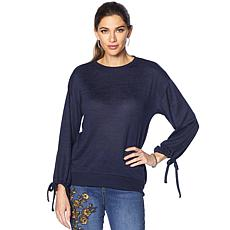 DG2 by Diane Gilman Tie-Sleeve Top