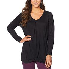 DG2 by Diane Gilman Twist-Front Knotted Top