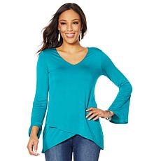 DG2 by Diane Gilman V-Neck Tulip Hem Top