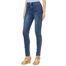 DG2 by Diane Gilman Virtual Stretch Braided Side Skinny Jean  - Basic