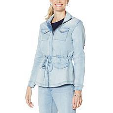 DG2 by Diane Gilman Virtual Stretch Denim Zip-Front Anorak Jacket
